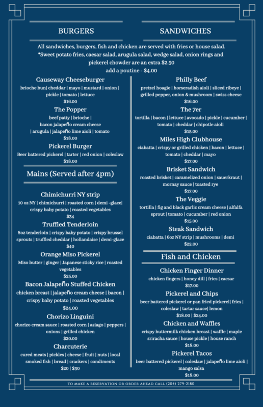 Second Page of our Fall 2021 Menu